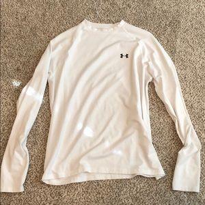 Long sleeve white Under Armour shirt